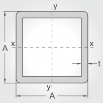 Calculator for Hollow structural sections - square